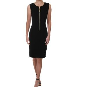 NEW Donna Karan Zip Front Career Work Sheath Dress